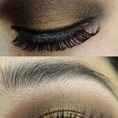 Glamour Dramatic Brown Gold Fall Makeup