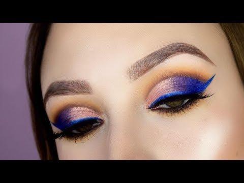 Morphe X Jaclyn Hill Palette Makeup Tutorial Colorful Cut Crease