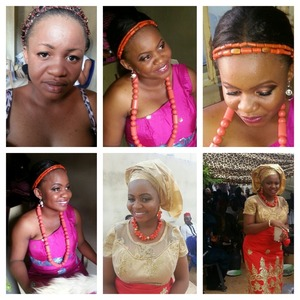 Before and after pix of a bride..makeup by Emel makeover