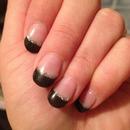 Black&silver gel nails