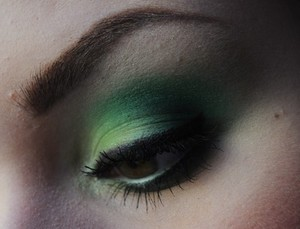 Green, matte and bright!  Like me on Facebook! http://www.facebook.com/pages/Makeup-Is-Art/455624517797347