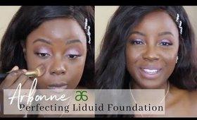 Arbonne Perfecting Liquid Foundation Review on DARK SKIN | Rachael Nalumu