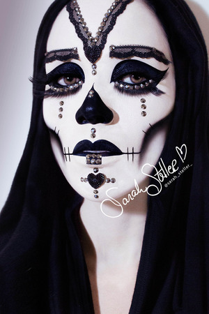 Beautiful Candy Skull Makeup and Photography by Sarah Steller.