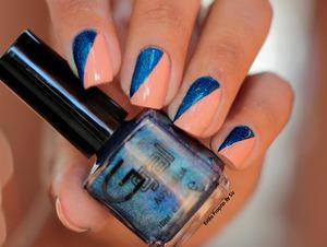 Esmaltação usando Verniz da Glitter Gal...veja no blog   http://www.estilopropriobysir.com/2014/03/unhas-da-semana-navy-i-will-navy-i-wont.html
