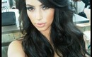 Kim Kardashian bouncy hair inspired tutorial