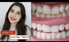 HOW I WHITEN MY TEETH AT HOME | + GIVEAWAY
