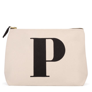 Natural Wash Bag Letter P