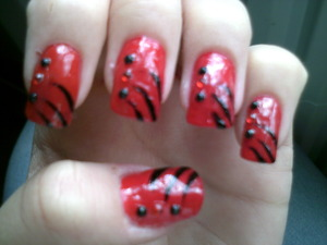 Red and Black Acrylics