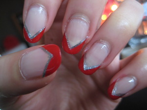 red and silver chevron