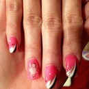 Gel polish nails art