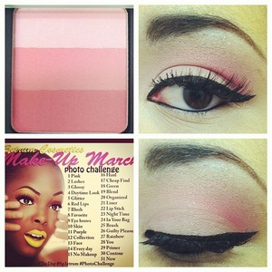 March Makeup Challenge Day 1 - Pink