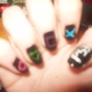 PS3/Playstation Nails, free hand