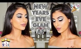 NEW YEAR'S GLAM AF   GLITTER CUT CREASE MAKEUP TUTORIAL