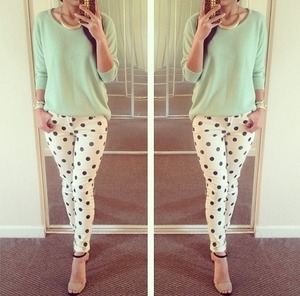 Do you like the dotted pants or too flashy?