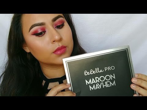 Maroon Mayhem Palette by Bebella Cosmetics | Corina S  Video