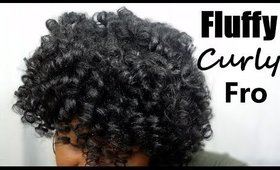 Natural Hair | Fluffy Curly Fro | Jessibaby901