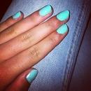 nail blue