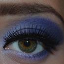 Purple smokey evening makeup