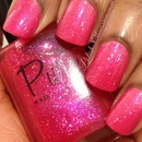 Pure Nail Lacquer - Classy AnnMarie layered over In Full Bloom