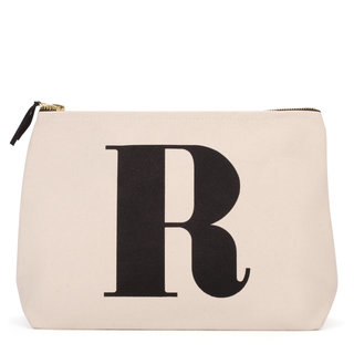Natural Wash Bag Letter R