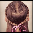 Cute heart braid