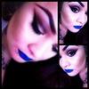 Bold Blue Lips.