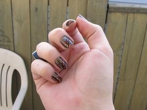 Halloween NOTD;; Medusa inspired nails!  NOTD with breakdown in my blog: http://rivuletsbeauty.blogspot.com/2011/10/halloween-notd-medusa-inspired-nails.html