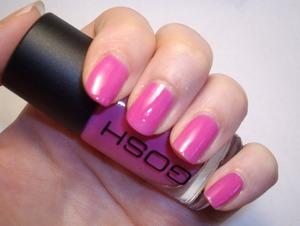GOSH nail polish in Flamingo.  Two coats.