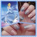 Cinderella glitter nails