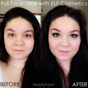 I thought it would be fun to show how I put together a full face look using ELF Cosmetics. In total, my look costs about $78, and if you take advantage of the awesome online sales ELF puts out every month (I do!), you could easily get this look for about $40-$50, that's the same value as one high-end eyeshadow palette at Sephora! http://www.beautybykrystal.com/2014/06/full-face-look-with-elf-summertime-blues.html