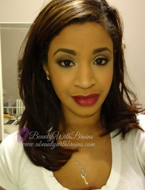 a pretty alternative to traditional gold, more photos on my blog: http://www.abeautywithbrains.com/2012/12/holiday-party-makeup-rose-gold.html