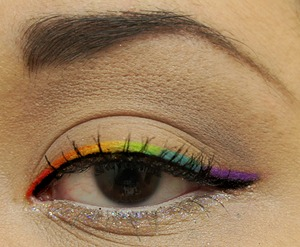 My attempt at the popular rainbow liner. =)