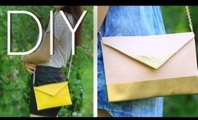 DIY Crossbody Mini Purse/Clutch (No Sewing Technique)