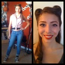Victory rolls, and 50's Style Make-up