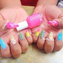 Stiletto nails colorful