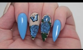 BUTTERFLY FLORAL NAIL TUTORIAL