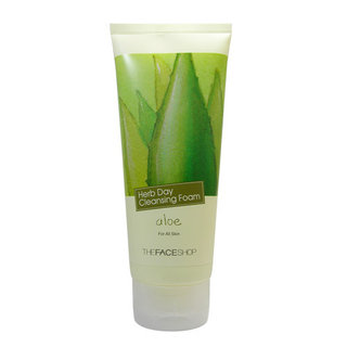 The Face Shop Herb Day Cleansing Foam - Hydrating Aloe