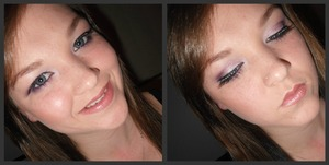purple c curve with false lashes and retarded smile. ;)