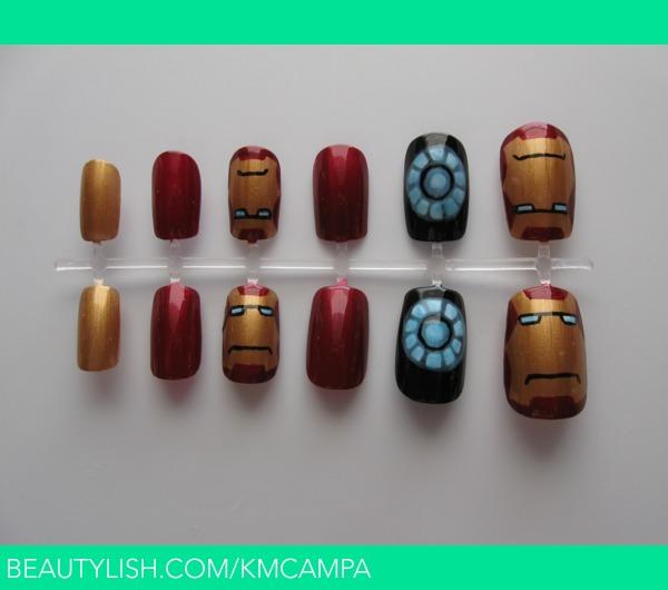 Iron Man Nails | Kasey C.\'s (kmcampa) Photo | Beautylish