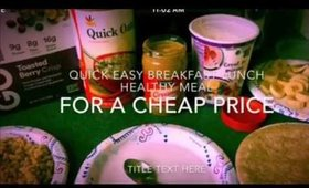 Easy fast cheap healthy meal