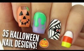 35 BEST HALLOWEEN NAIL ART DESIGNS! | Nail Art Tutorial Compilation