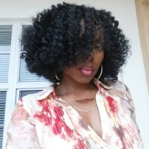 Twist out on natural hair.