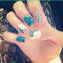 Cheetah & blue