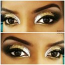 Silver and Gold Glitter Eyes