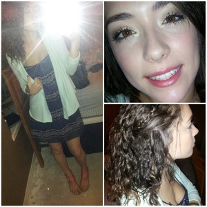 my hair outfit and makeup for the day !!!