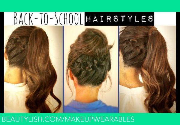 Hair Tutorial Cute Back To School Hairstyles Braided Ponytail