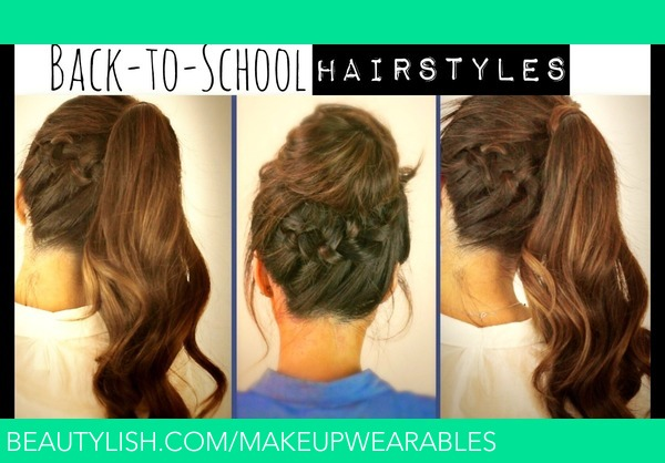 Magnificent Hair Tutorial Cute Back To School Hairstyles Braided Ponytail Hairstyles For Women Draintrainus