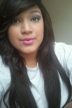 Green & Purple eyes with a pink lip!