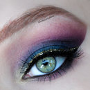 Teal/Purple With Gold Liner