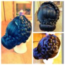 #updo #hairandmakeupbysteph #hair #hairstyle # five strands braid #braids